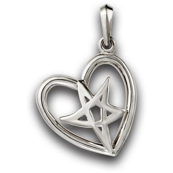Heartbeat of El Paso Collection: El Paso Star® and Heart Sterling Silver Pendant