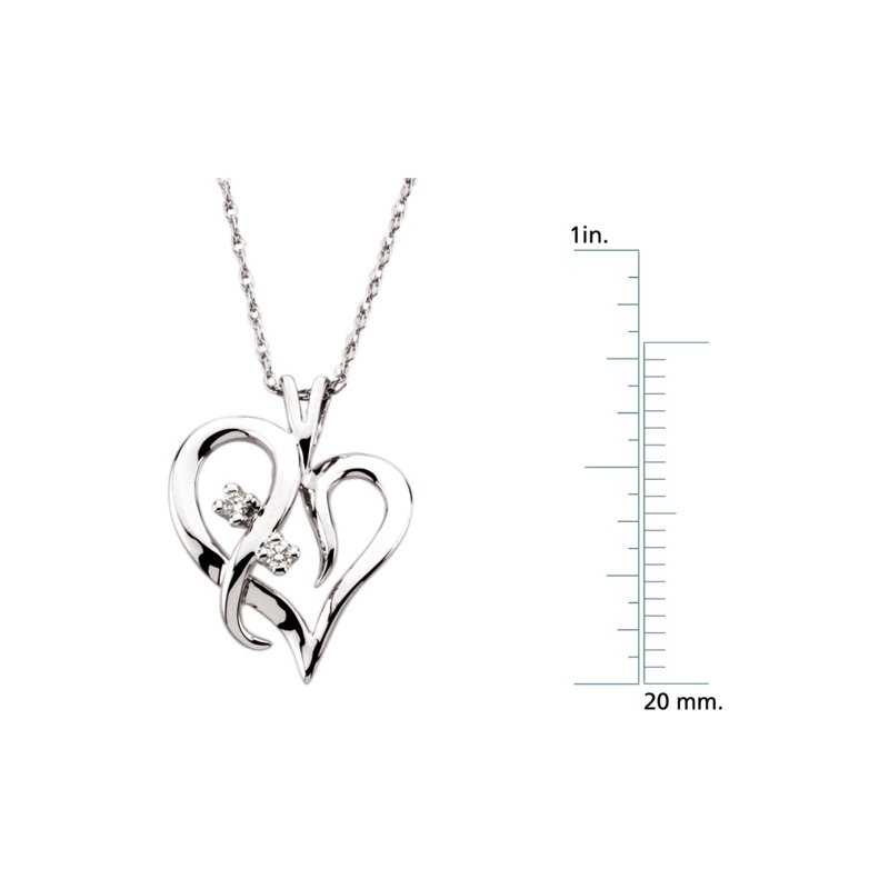 Ladies' Jewelry Diamond Heart Necklace