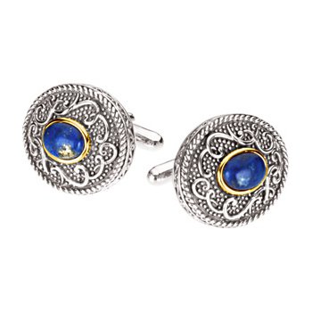 Genuine Lapis Cuff Links