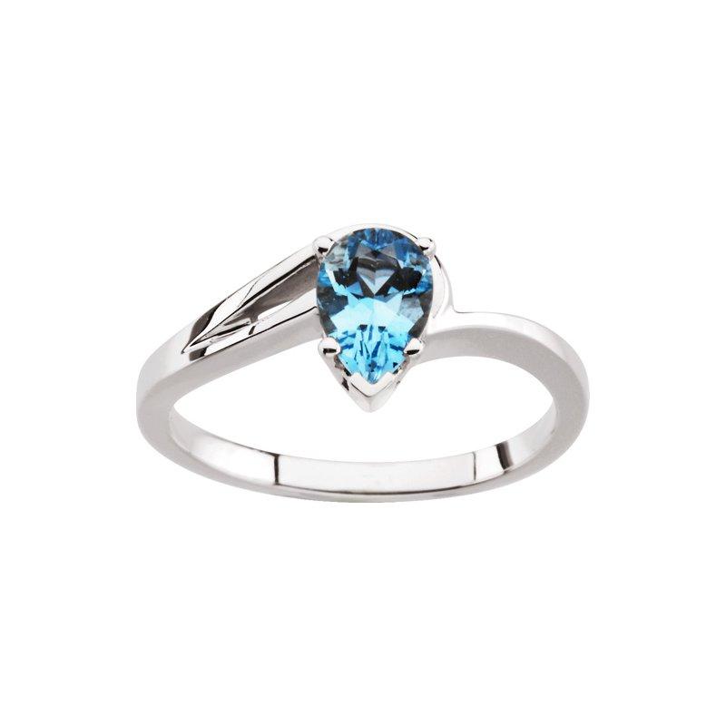 Ladies' Jewelry Genuine Aquamarine Ring