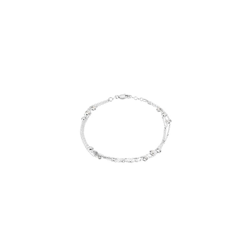 Ladies' Jewelry Three Strand Cubic Zirconia Bracelet