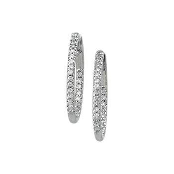 3/4 ct tw Diamond Inside-Outside Hoop Earrings