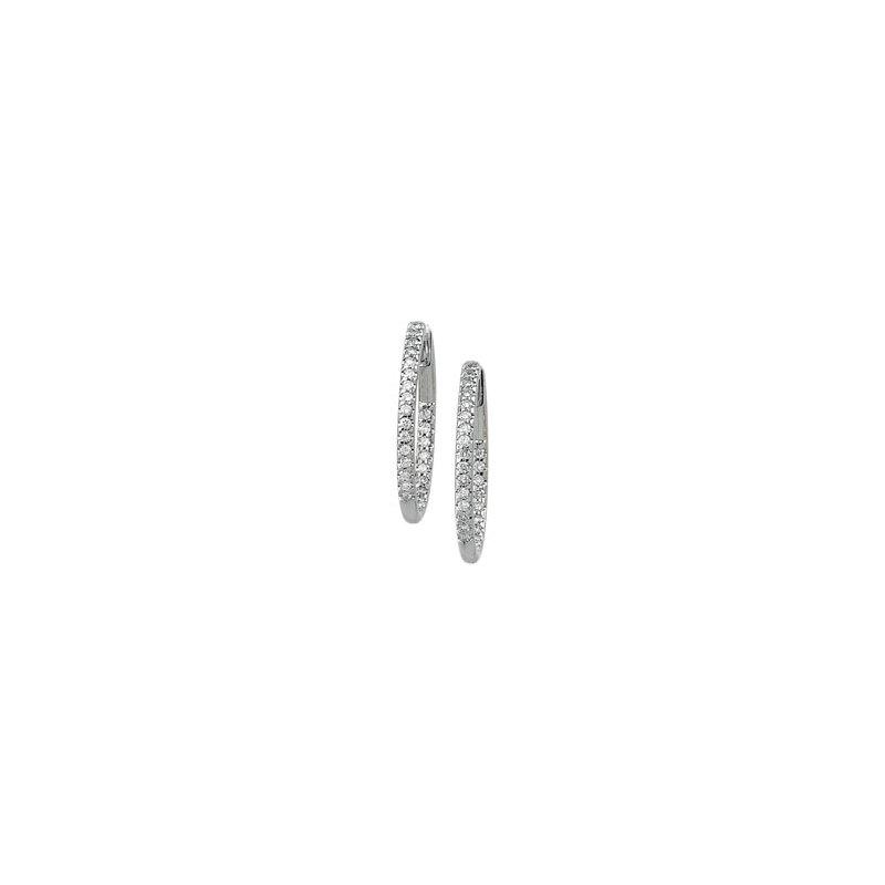 Ladies' Jewelry 3/4 ct tw Diamond Inside-Outside Hoop Earrings