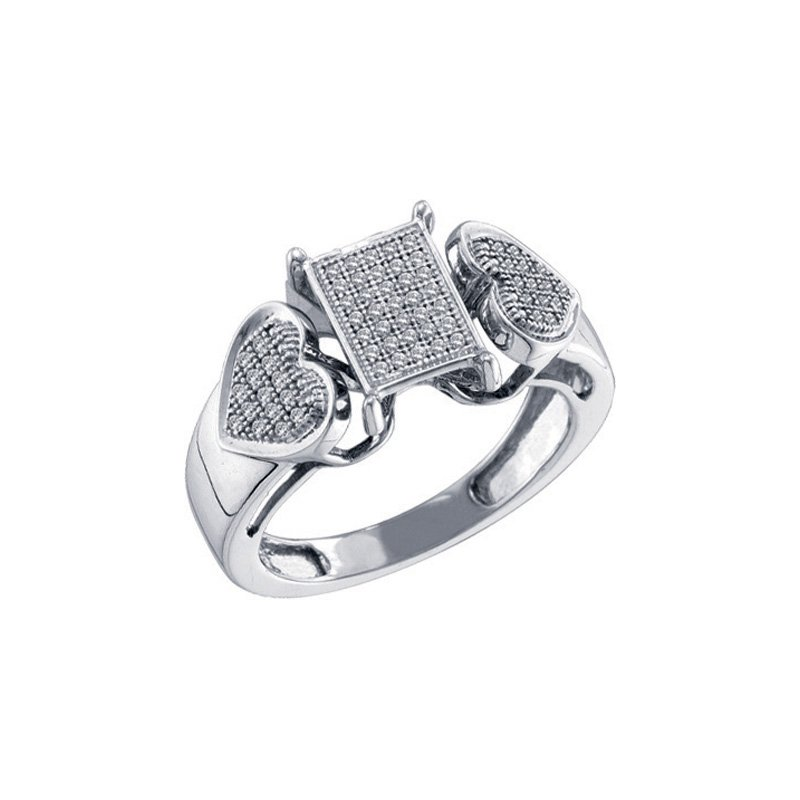 Valentine Gift Ideas Diamond Micro-Pave Ring