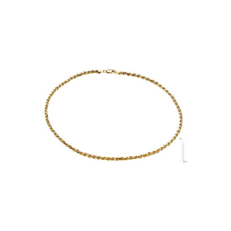 Ladies' Jewelry Diamond-Cut Rope Chain