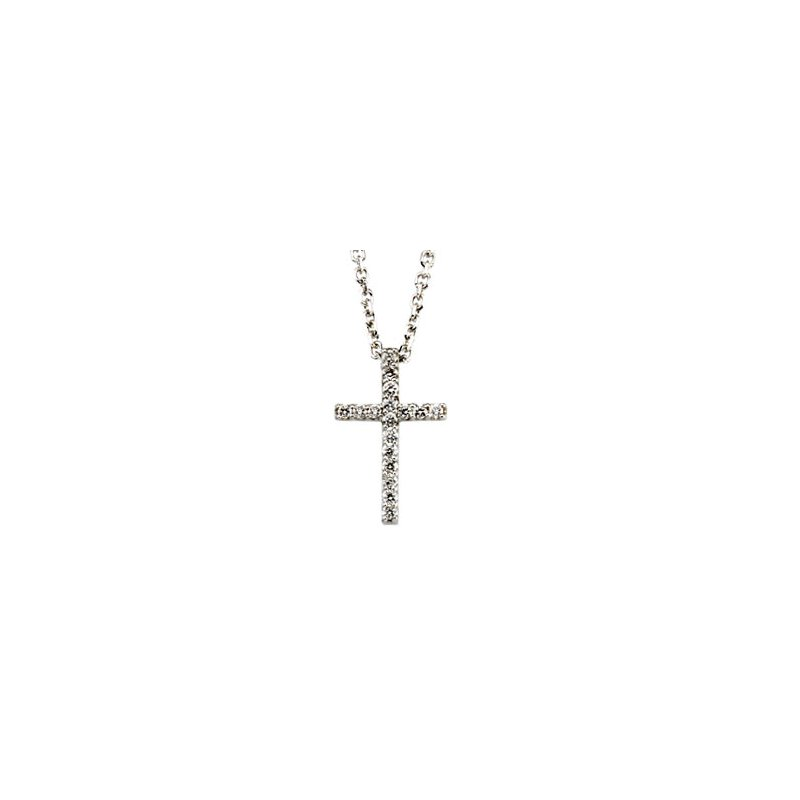 Religious Jewelry Diamond Cross Necklace