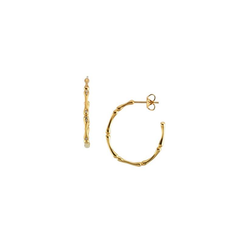 Ladies' Jewelry Diamond Bamboo Earrings