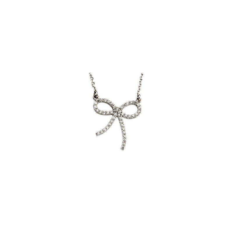 Ladies' Jewelry Diamond Bow Necklace