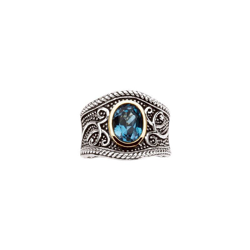 Ladies' Jewelry Genuine Swiss Blue Topaz Ring