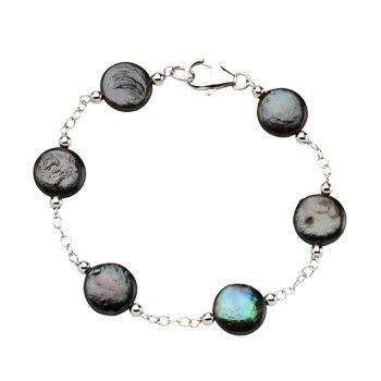 Freshwater Cultured Coin Pearl Bracelet