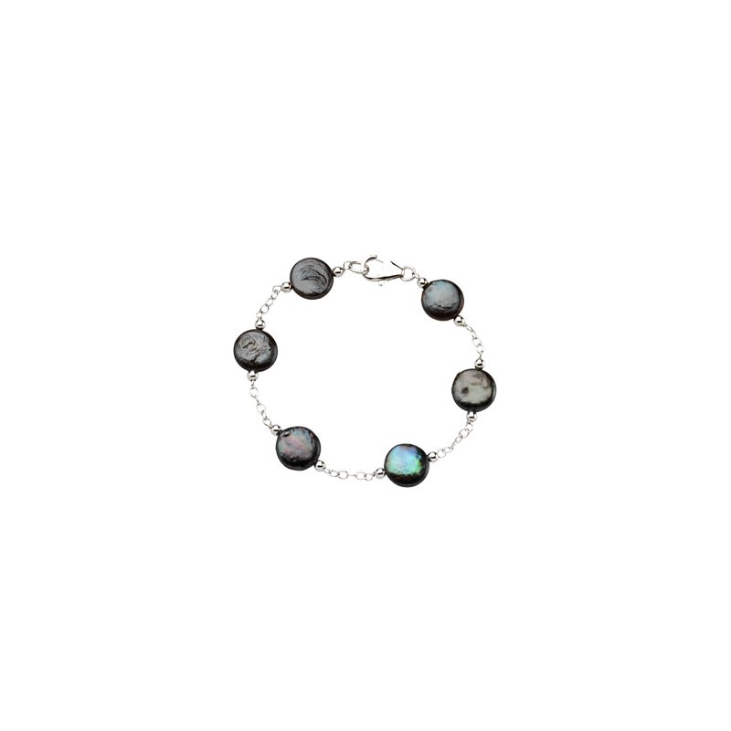 Ladies' Jewelry Freshwater Cultured Coin Pearl Bracelet