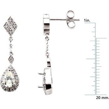 Moissanite & Diamond Earrings
