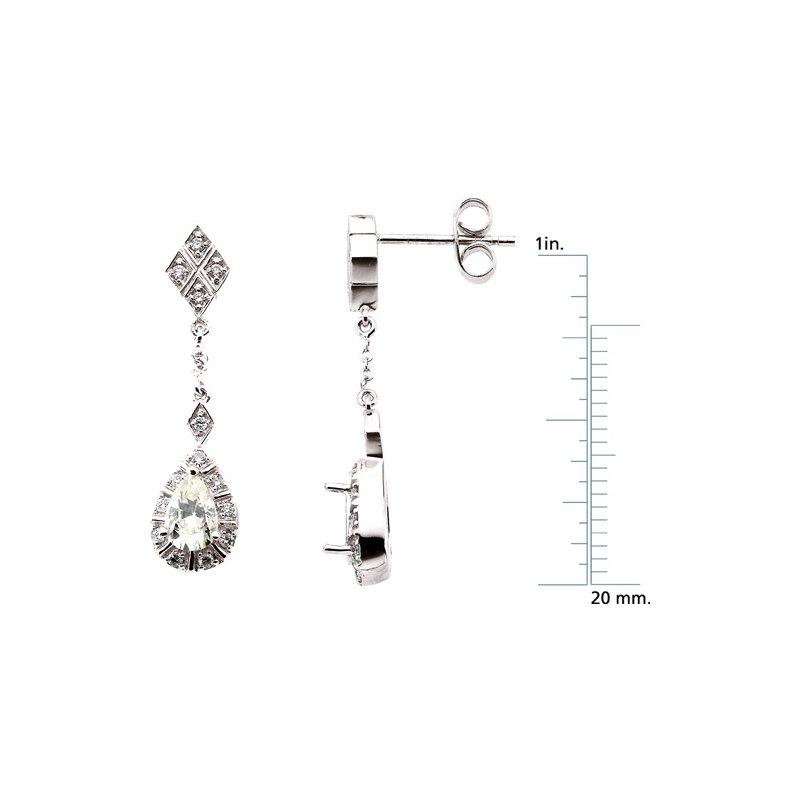 Ladies' Jewelry Moissanite & Diamond Earrings