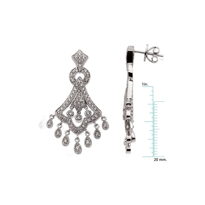 Ladies' Jewelry Diamond Chandelier Earrings