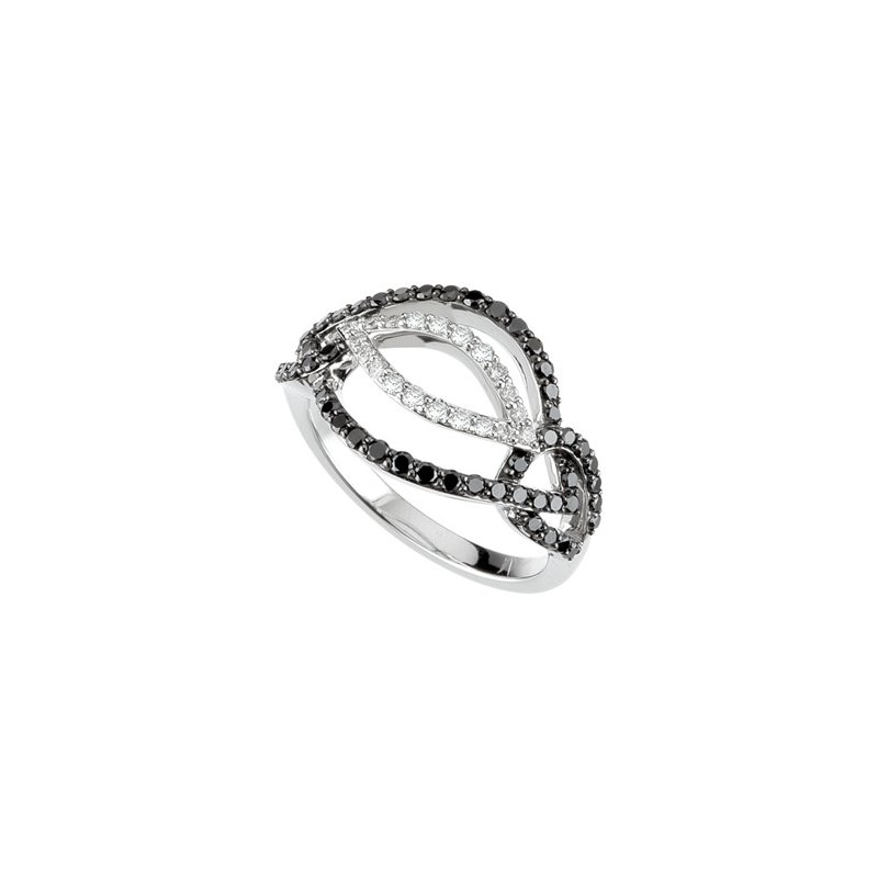 Holiday Ideas 3/4 ct tw Black & White Diamond Ring