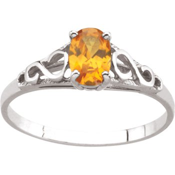 Teen Imitation November Birthstone Ring