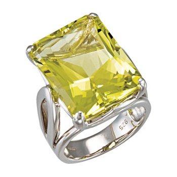 Genuine Green Gold Quartz Ring