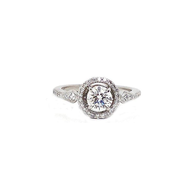 Vintage Bridal Diamond and White Gold, New, Vintage Style Wedding Set