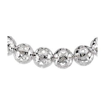 Pierced Heart Bead Necklace