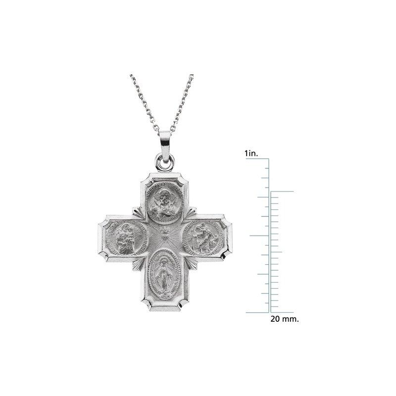Religious Jewelry Four Way Cross Necklace