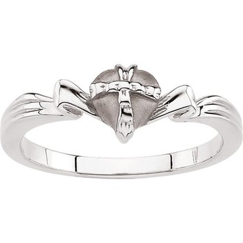 Gift Wrapped Heart Chastity Ring with Box