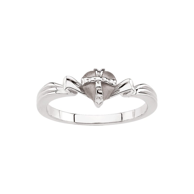 Religious Jewelry Gift Wrapped Heart Chastity Ring with Box