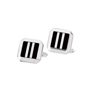 Men's Genuine Onyx & Mother of Pearl Cuff Links
