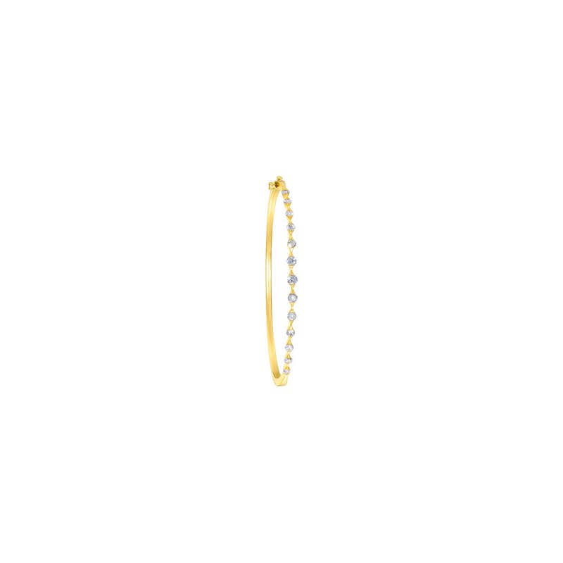 Ladies' Jewelry Diamond Stackable Bangle Bracelet