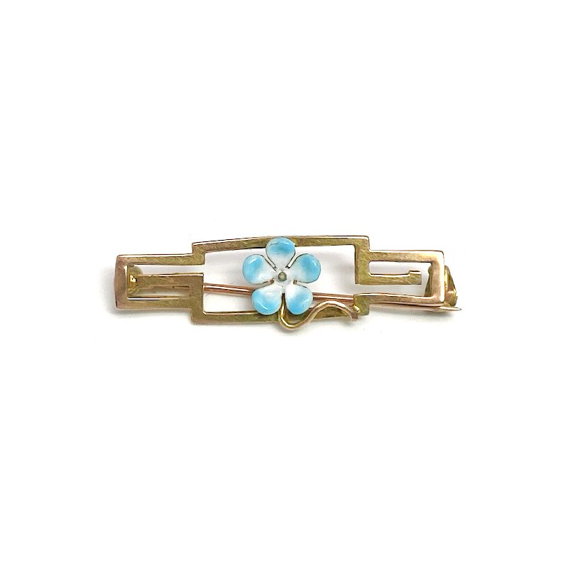 Estate & Vintage Vintage Art nouveau design enamel bar pin