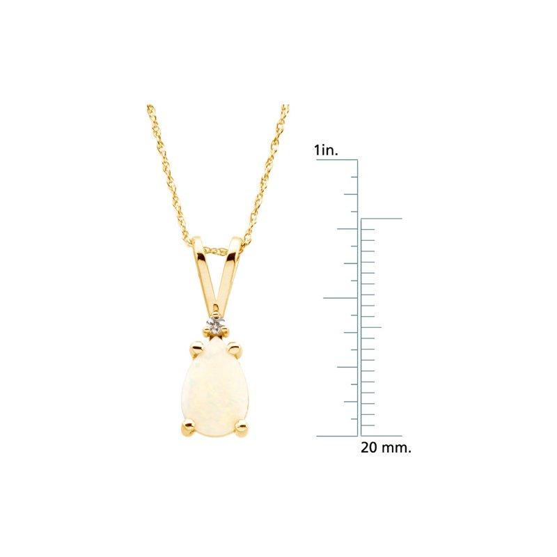 Ladies' Jewelry Genuine Cabochon Opal & Diamond Necklace