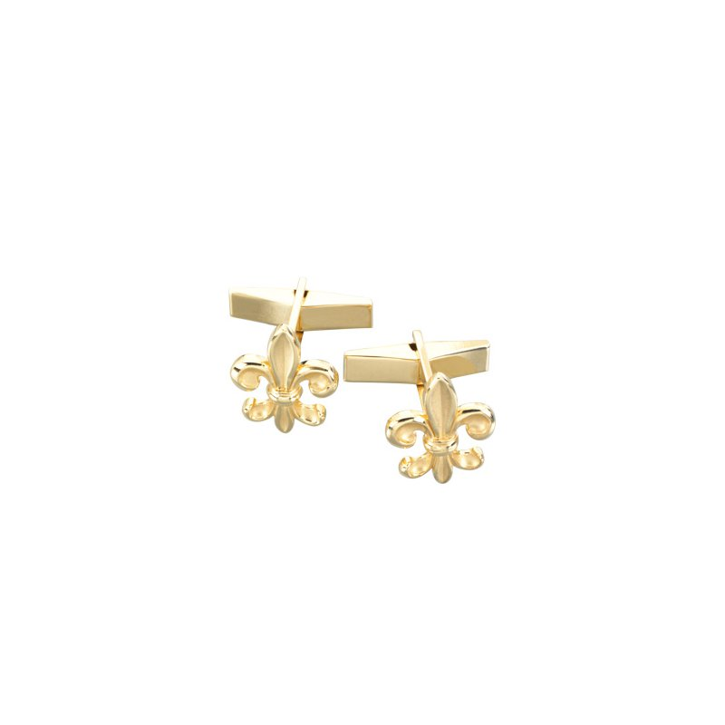 Men's Jewelry Fleur-de-lis Cuff links