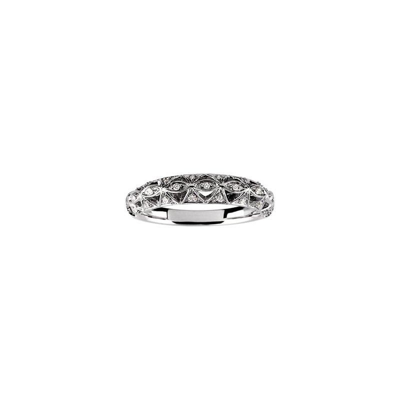 Susan Eisen 1/10 ct tw Diamond Wedding Band