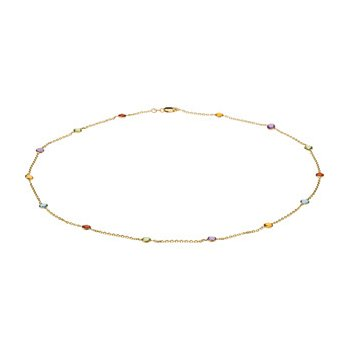 Genuine Checkerboard Multi Gem-stone Necklace
