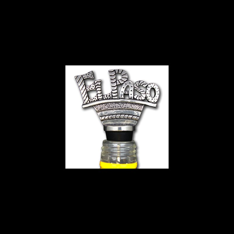 El Paso Star and Gifts The Heartbeat of El Paso Gift Collection Wine Stopper