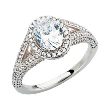 Semi-Mount Split Shank Engagement Ring