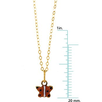 Child Butterfly Pendant On Chain