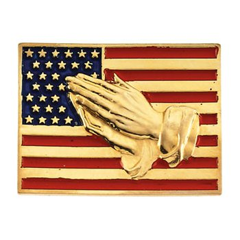 Flag with Praying Hands Lapel pin