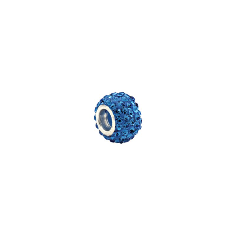 Holiday Ideas Kera Roundel Bead with Pave' Light Sapphire Crystals