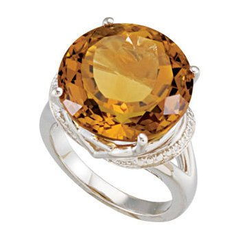 Genuine Honey Quartz Ring
