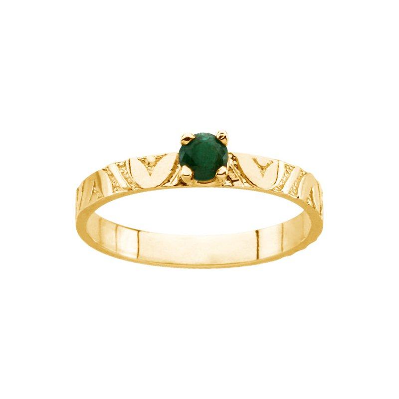 Birthstone Jewelry Children's Genuine Emerald May Birthstone Ring