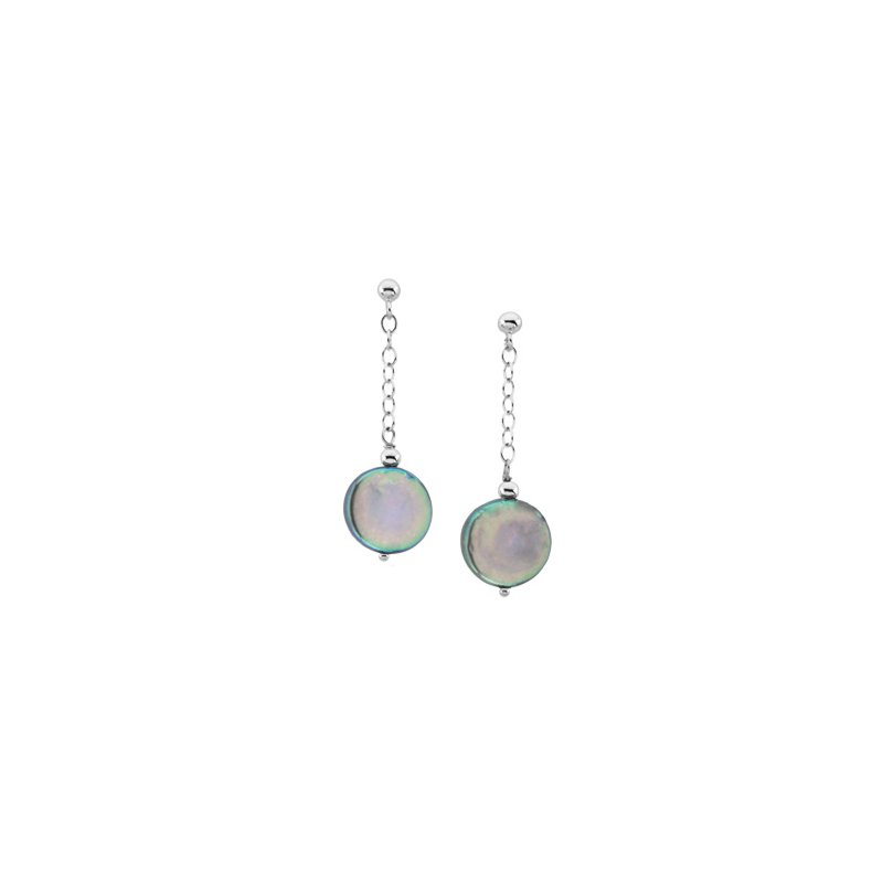 Ladies' Jewelry Freshwater Cultured Coin Pearl Earrings