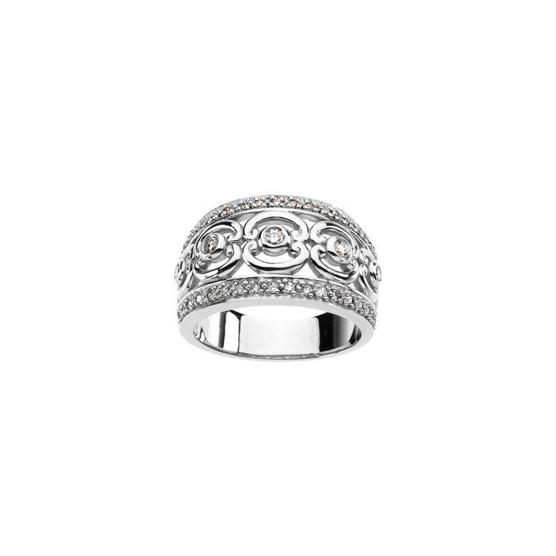 Ladies' Jewelry Platinum Diamond Ring