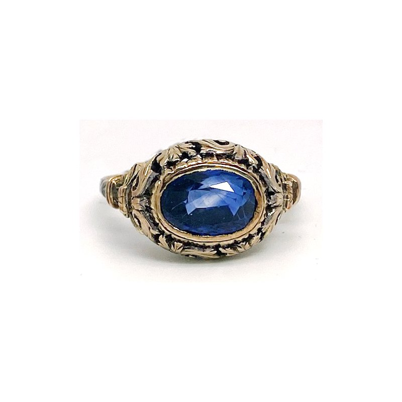 Estate & Vintage Lady's vintage sapphire and yellow gold ring