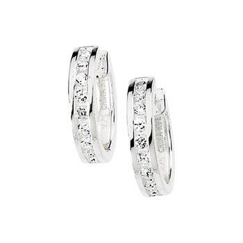 Cubic Zirconia Hinged Earrings