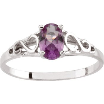 Teen Imitation January Birthstone Ring