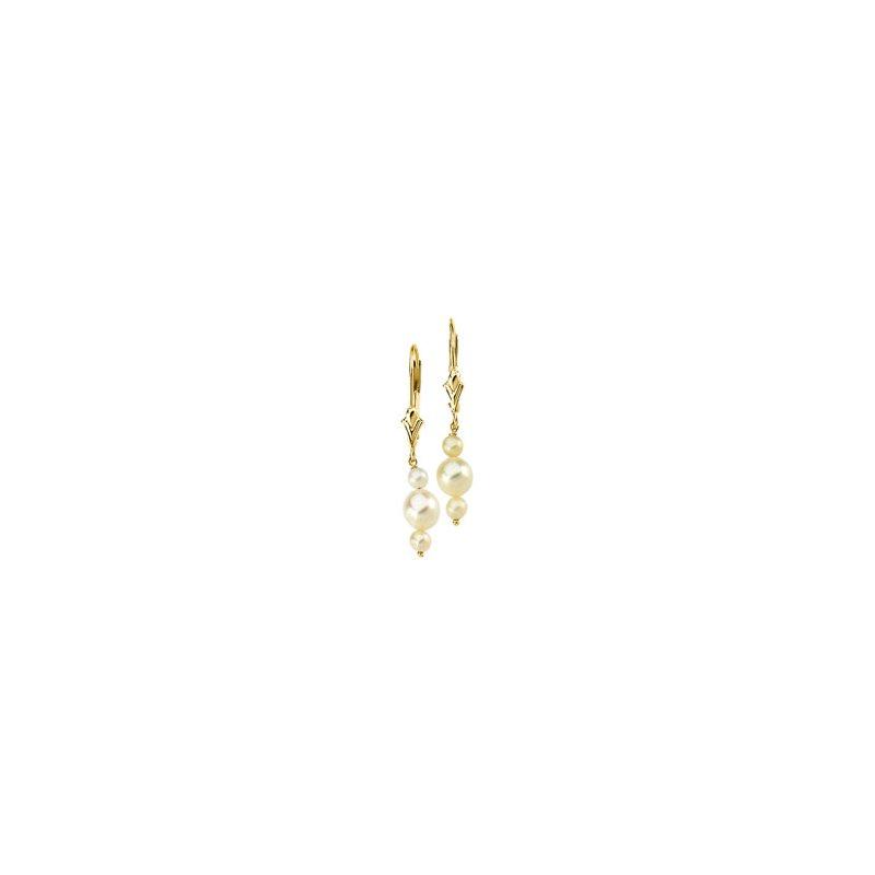 Ladies' Jewelry Freshwater Cultured Pearl Earrings