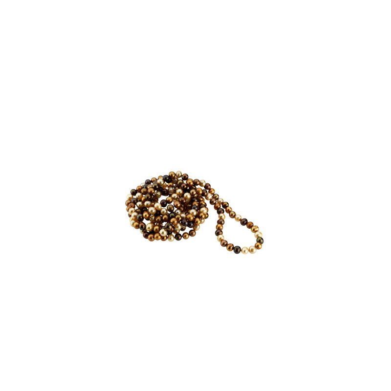 Ladies' Jewelry Freshwater Cultured Chocolate Pearl Necklace