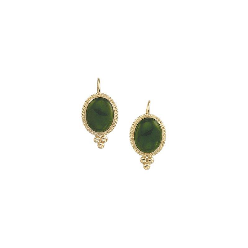 Ladies' Jewelry Genuine Jade Earrings