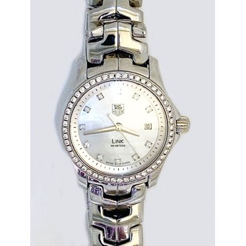 Lady's stainless steel and diamond, Tag Heuer watch