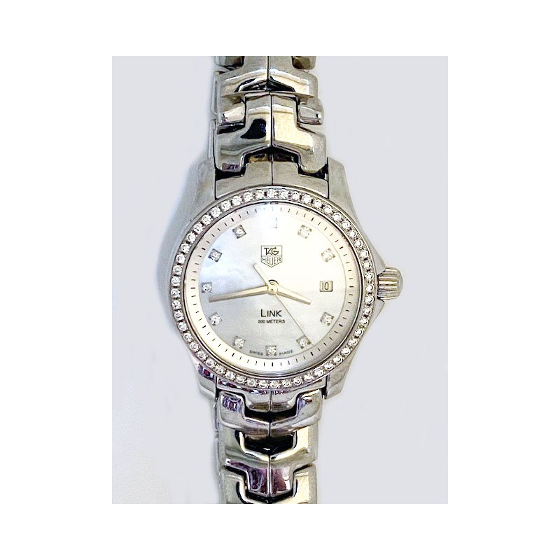 Pre-owned and Vintage Watches Lady's stainless steel and diamond, Tag Heuer watch